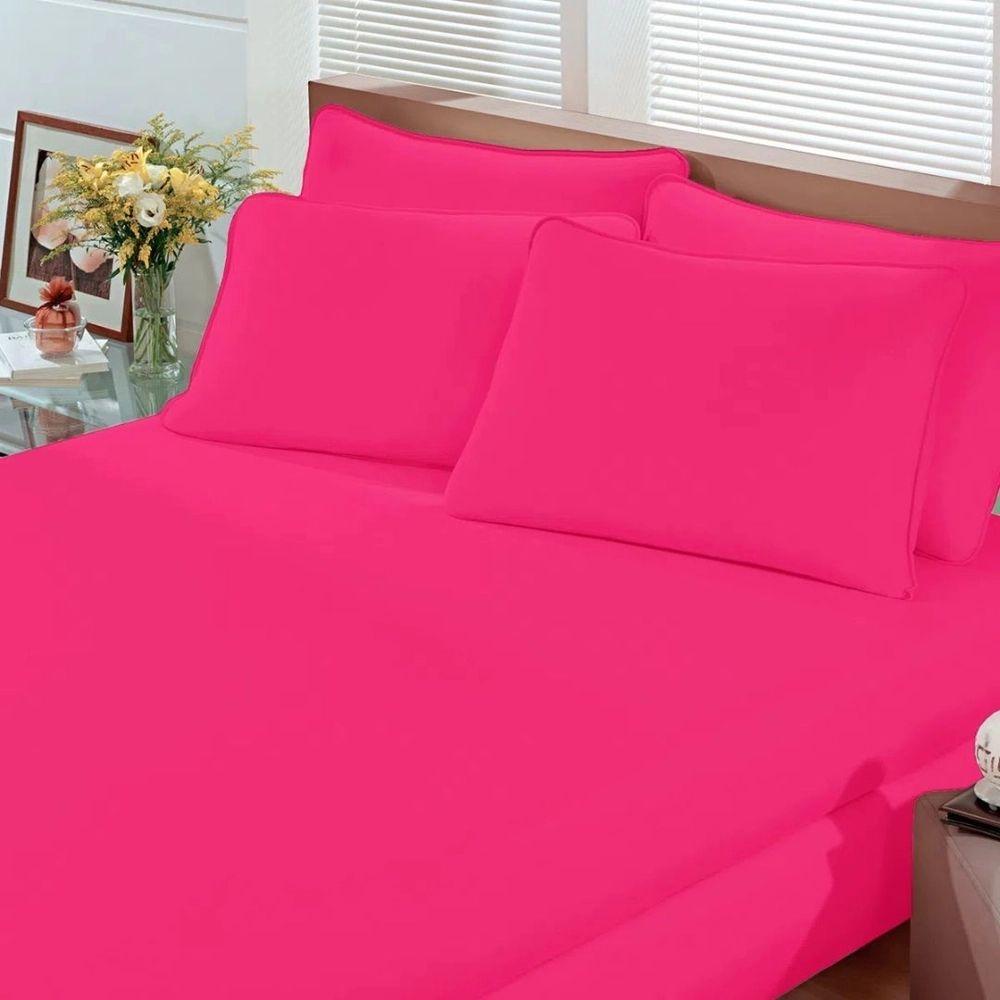 Lençol Avulso Queen Malha Com Elastico Pink - Bouton