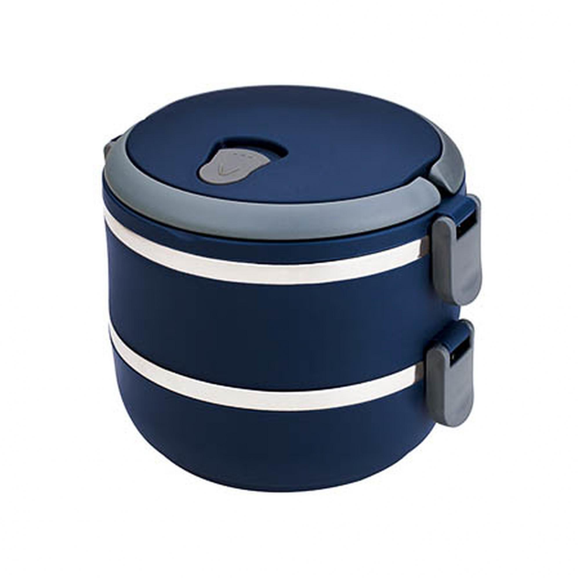 Lunch Box Marmita Dupla Azul 1,4L Euro Home