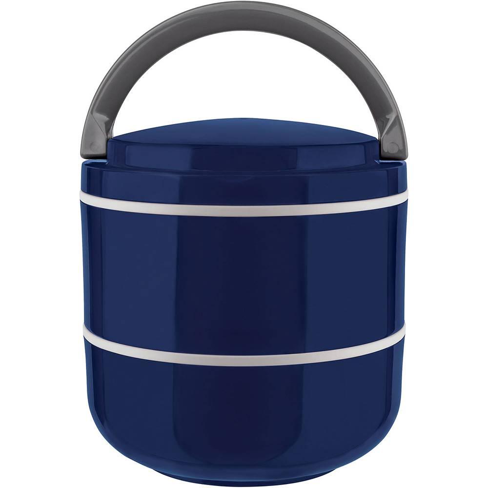 Lunch Box Marmita Dupla Azul 1,4L - Euro Home