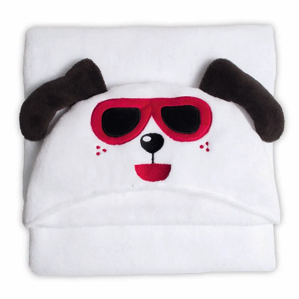 Manta Microfibra 90x90 Infantil Com Capuz Happy Dog
