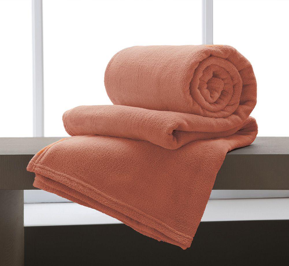 Manta Microfibra Home Design Casal / Apricot