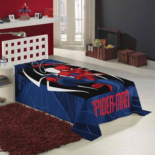 Manta Solteiro Fleece Estampada Spider Man