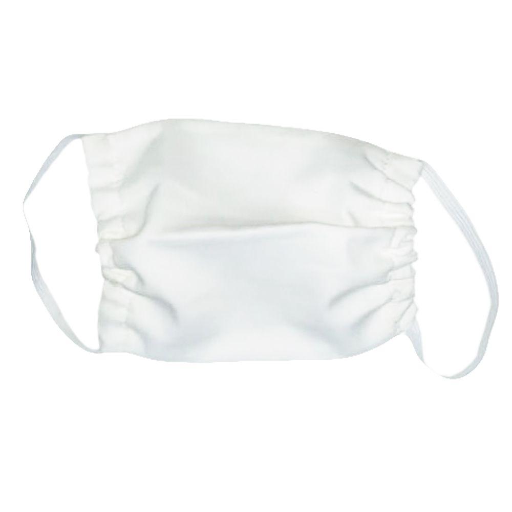 Mascara p/ proteção 100% algodão Branca Tam. Unico 6 Peças