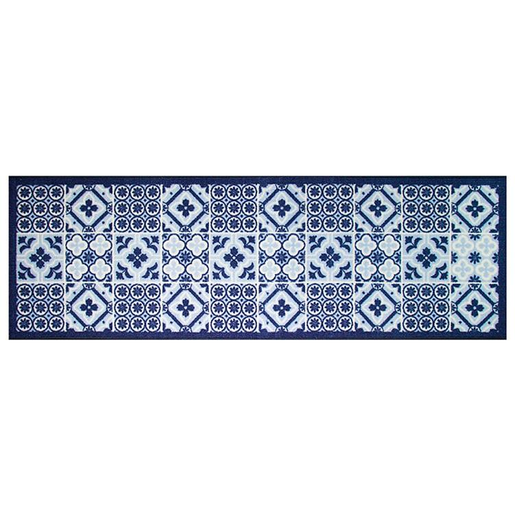 Passadeira Multiuso Colorful Bellacasa 150x50cm Azulejo Azul