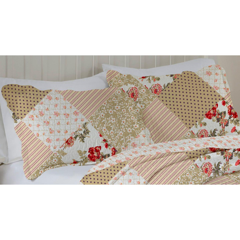 Porta Travesseiro Avila Color Art 50x70cm Bolinha Marrom
