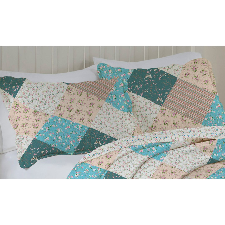 Porta Travesseiro Avila Color Art 50x70cm Flor Azul
