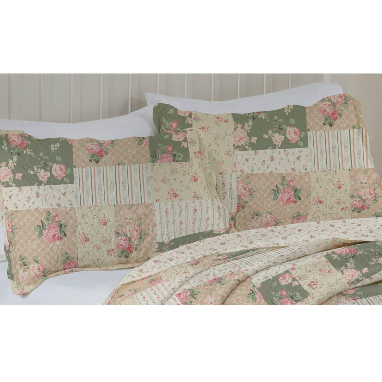 Porta Travesseiro Avila Color Art 50x70cm Floral Marrom