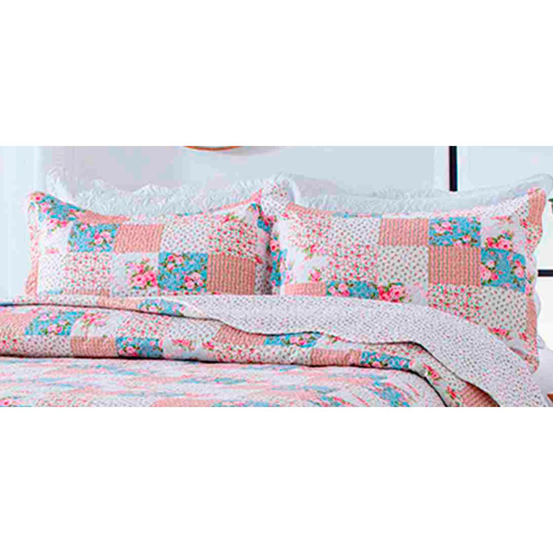 Porta Travesseiro Avila Color Art 50x70cm Flores Rosa
