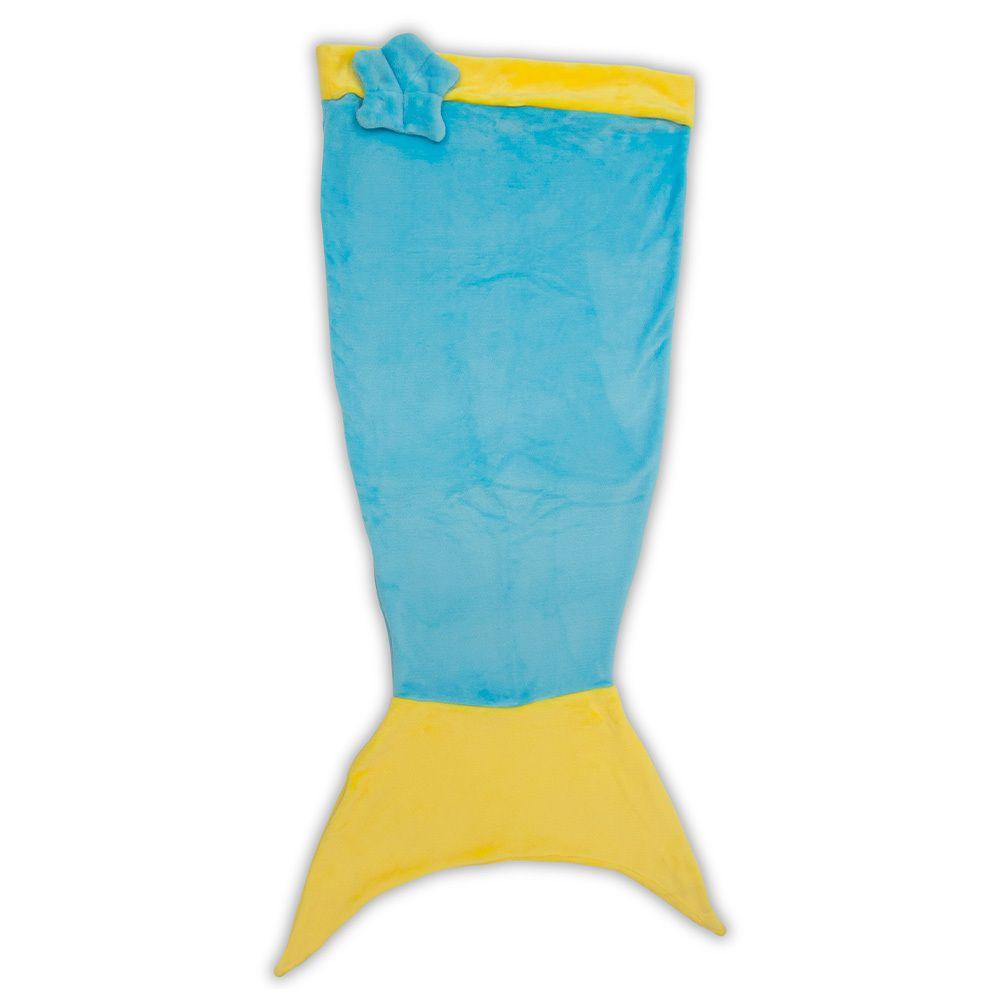 Saco de Dormir Sereia Azul Microfibra 140x50 Sereia Azul