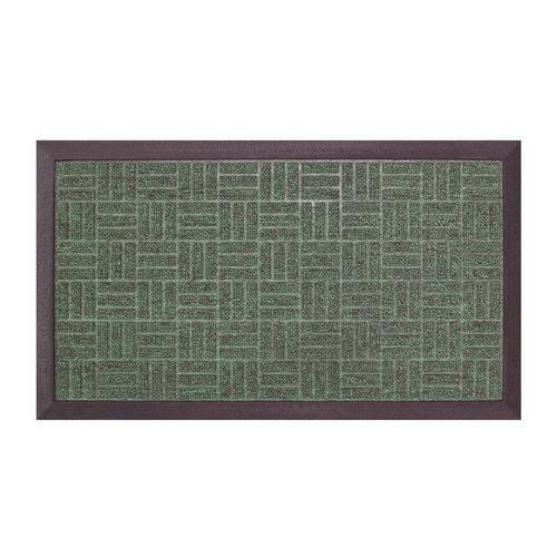 Tapete de Entrada Fenice Colorful BellaCasa 69X39 cm Verde Liso