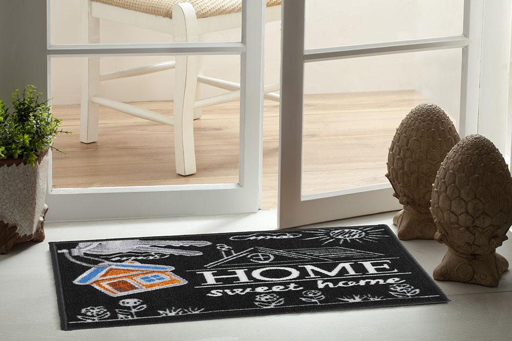 TAPETE PORTA DE ENTRADA 40CMx60CM BEM VINDO HOME SWEET HOME