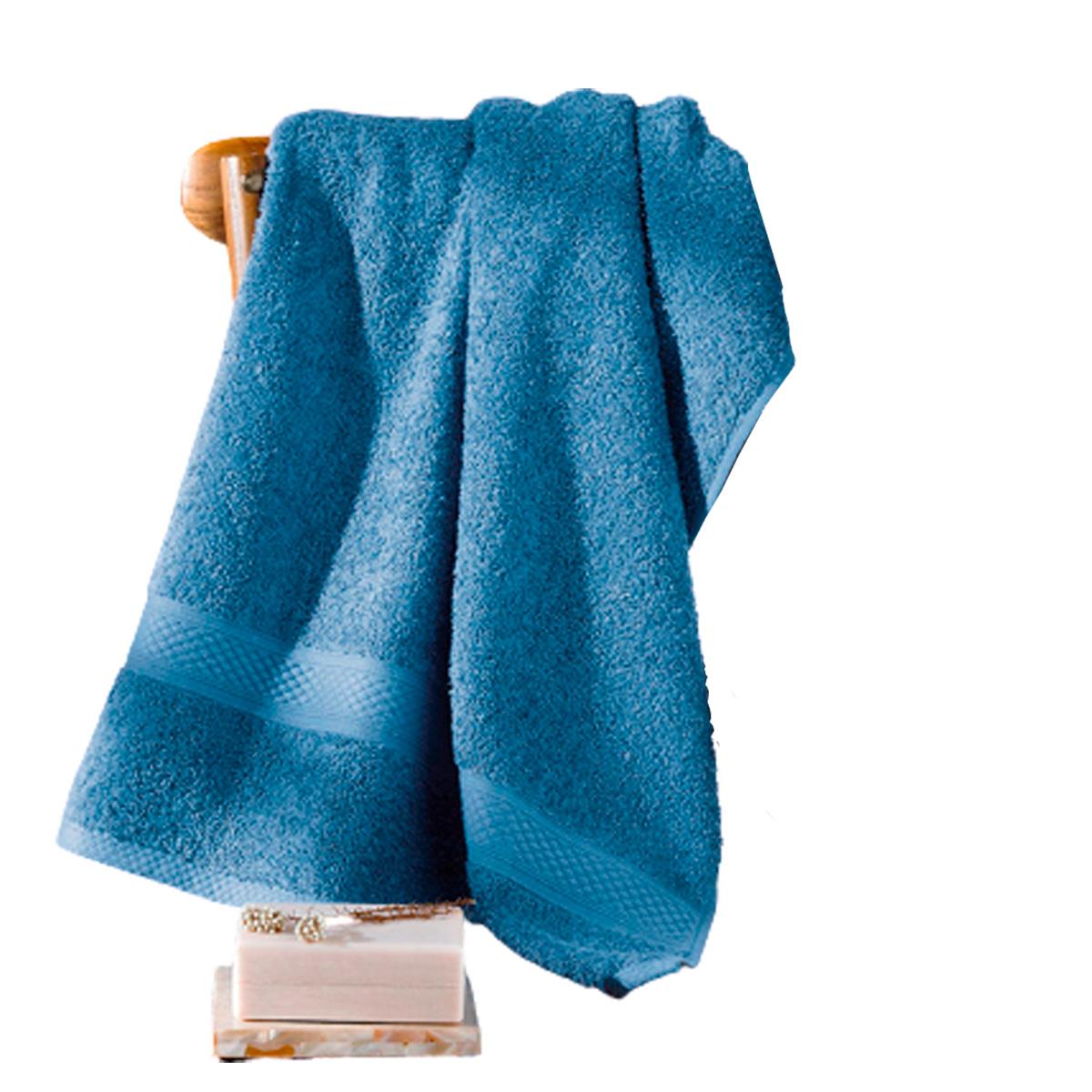 TOALHA BANHO FELPUDO JACQUARD RUBI Azul 90x150cm