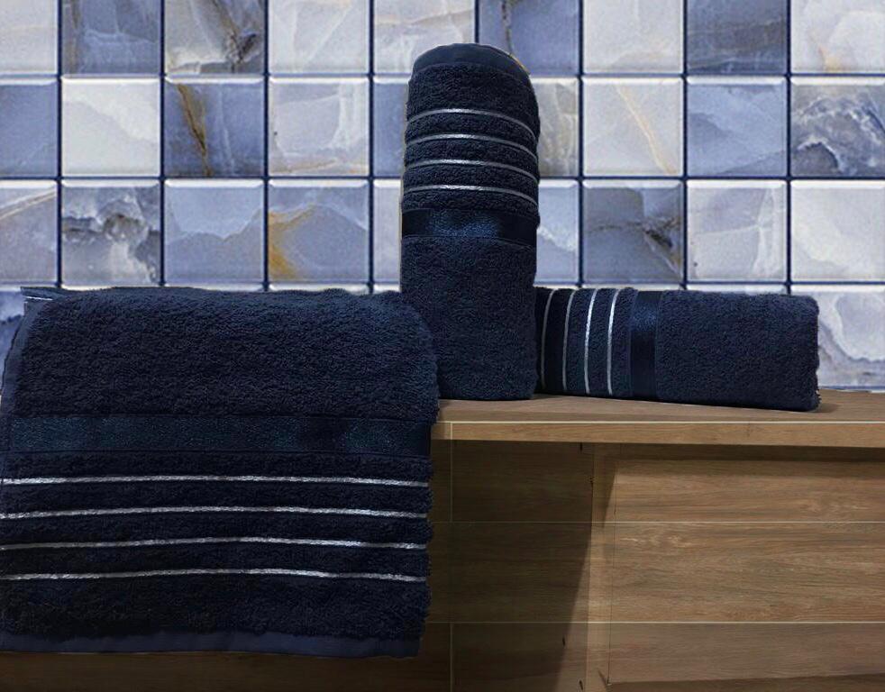 Toalha De Banho Azul Marinho Otto - Karsten