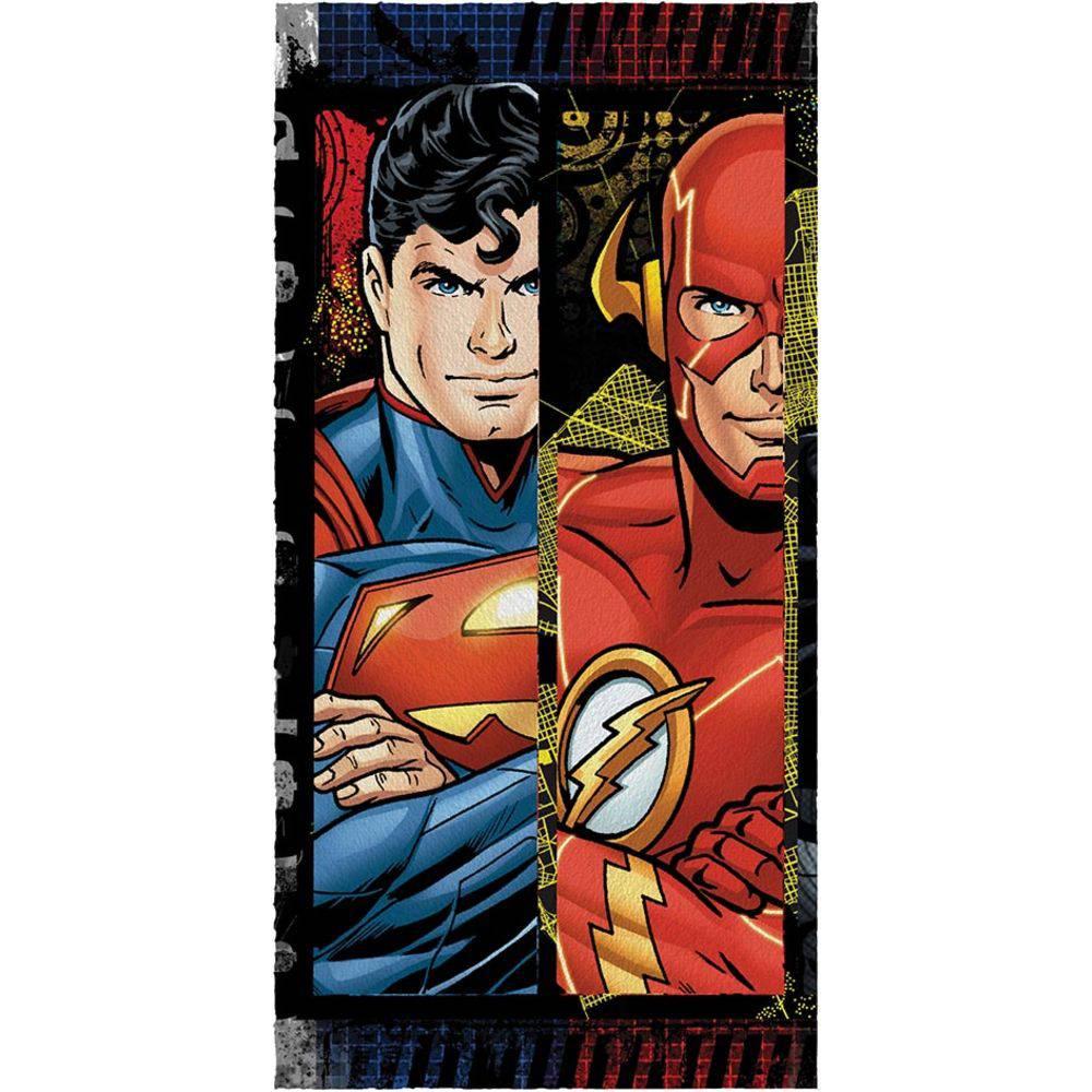 Toalha De Banho Felpuda Flash Vs Superman Liga da Justiça - Lepper