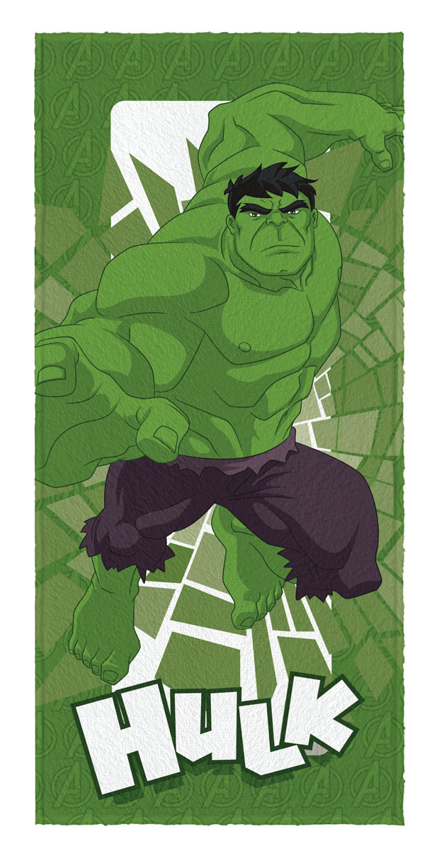 Toalha de Banho Felpuda infantil Avengers Hulk mod 4