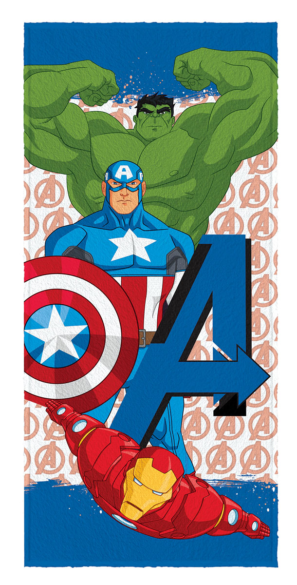 Toalha de Banho Felpuda infantil Avengers mod 5