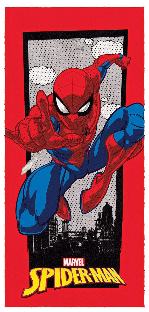Toalha de Banho Felpuda Spider Man  Mod 9