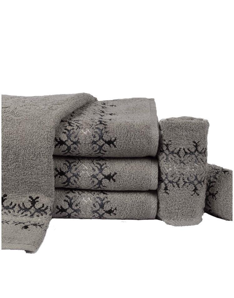 Toalha de Banho Cinza 80cmx140cm 100% algodão  - Lufamar