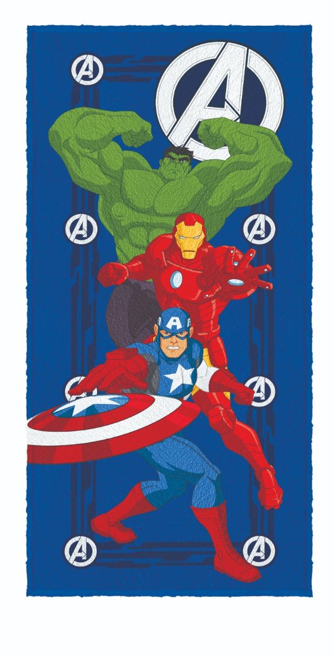 Toalha De Banho Infantil Avengers Mod 1 Felpuda-Lepper