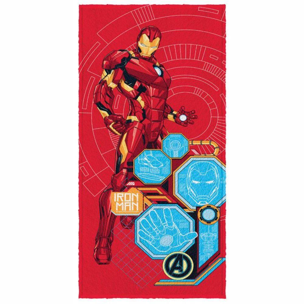 Toalha De Banho Infantil Avengers Mod 3 Felpuda-Lepper