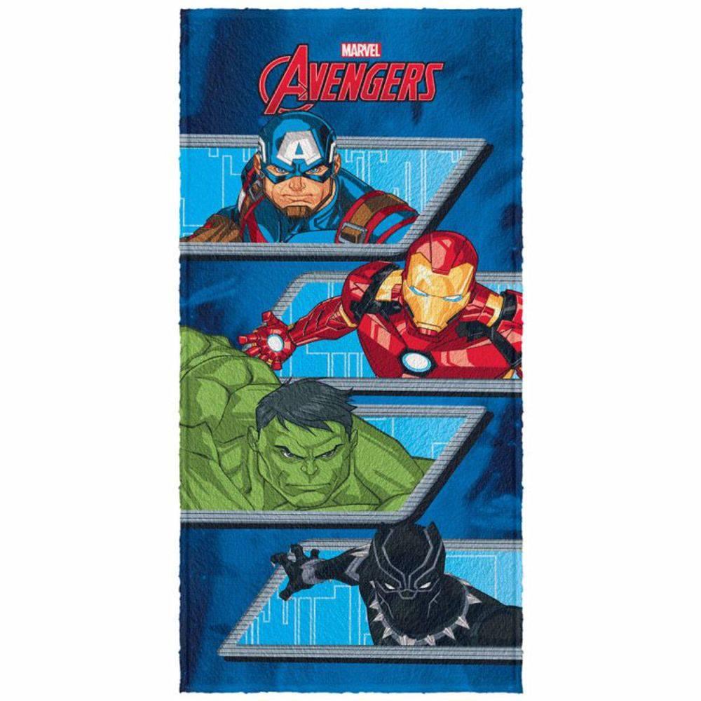 31d822f58c Toalha De Banho Infantil Avengers Mod 4 Felpuda-Lepper