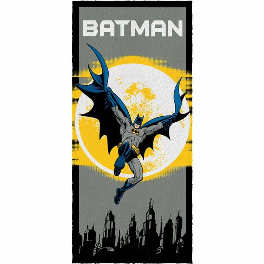 Toalha De Banho Infantil  Batman Mod 1 Felpuda-Lepper