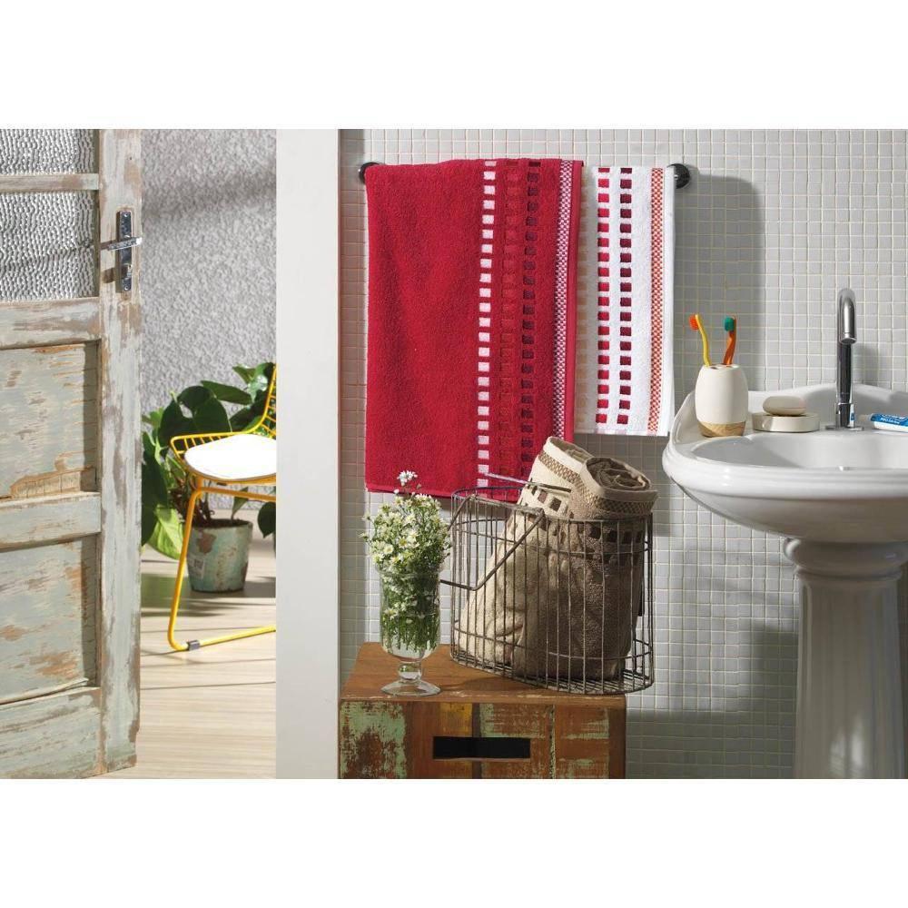Toalha De Banho Vermelha Calera - Karsten