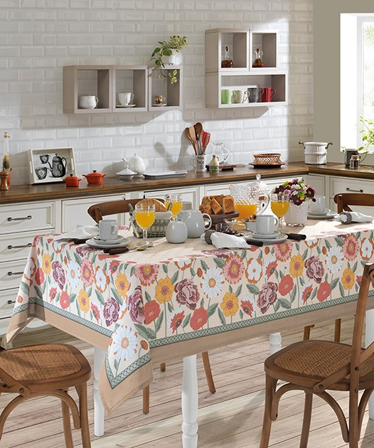 Toalha de Mesa Dohler Clean Renova Estampado Digital - Fatima D 140x140cm