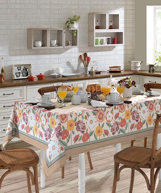 Toalha de Mesa Dohler Clean Renova Estampado Digital - Fatima D 180x180cm