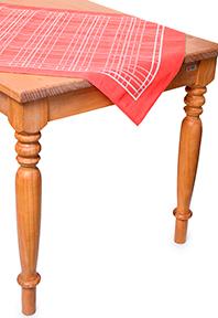 Toalha de Mesa Pop Quadrada Katia 75x75cm Vermelha