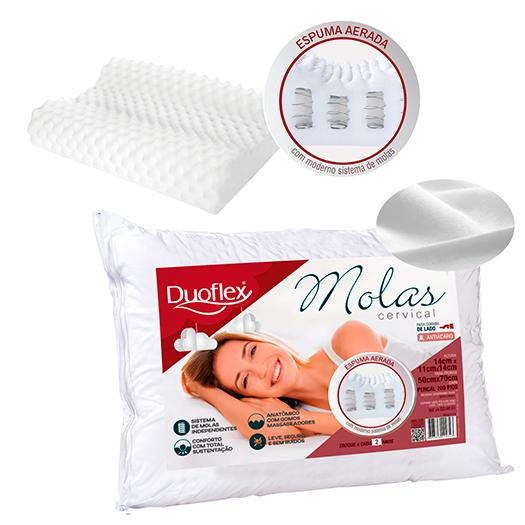 Travesseiro Cervical Molas 48x68x14cm
