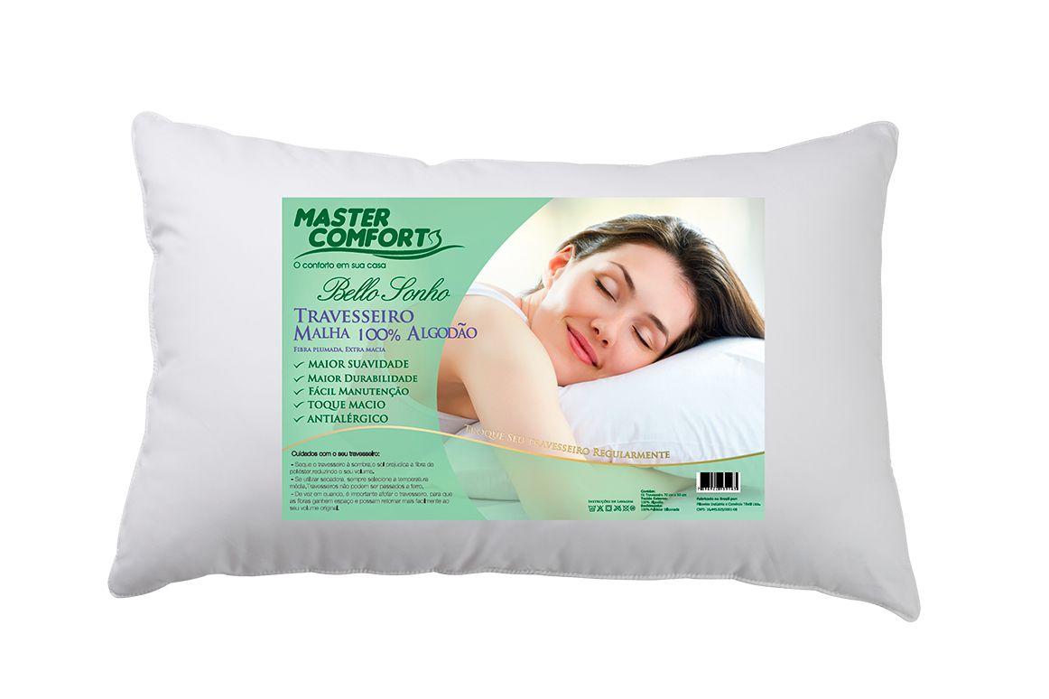 Travesseiro Malha 100% Algodão Bello Sonho