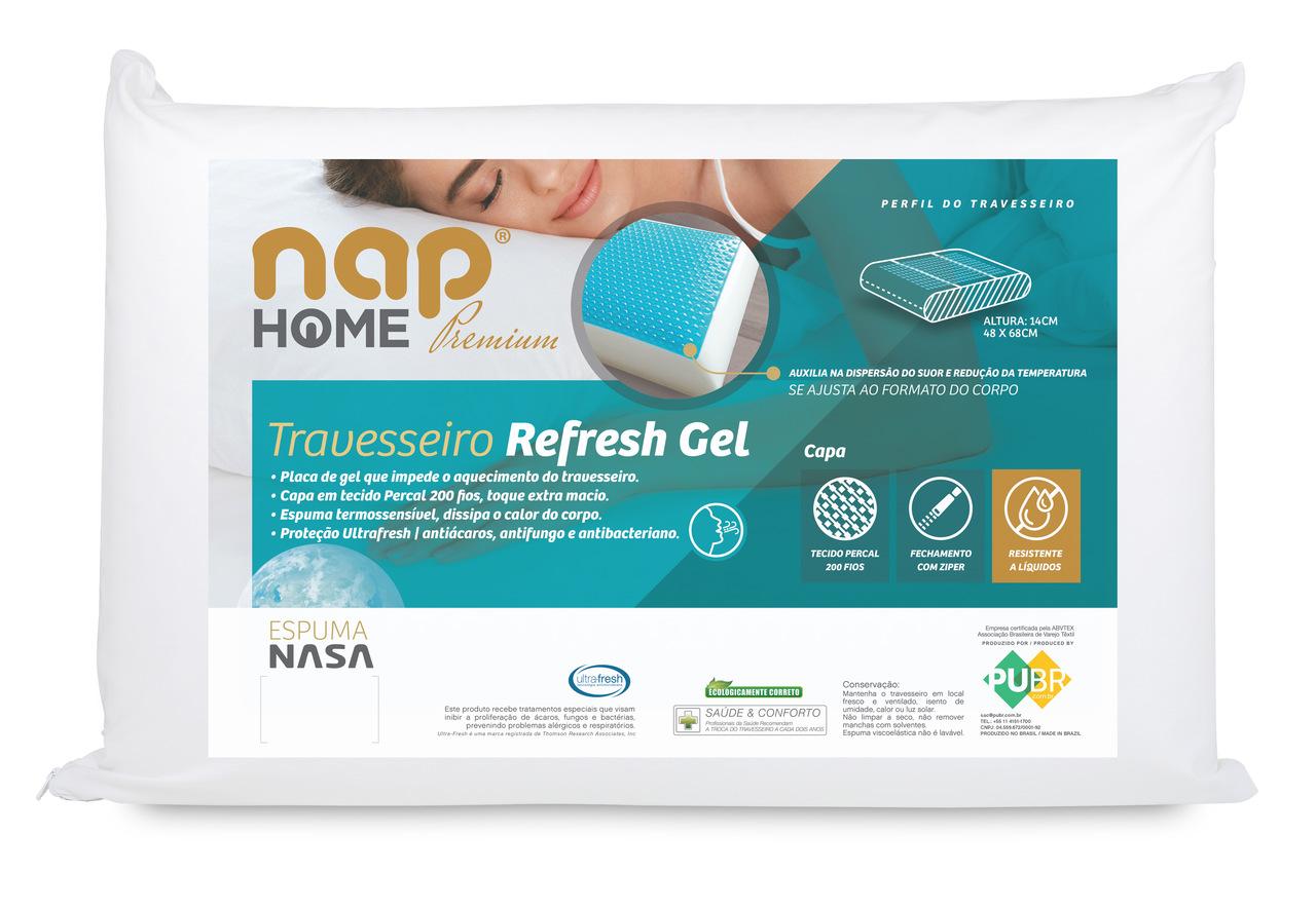 Travesseiro NAP HOME PREMIUM REFRESH GEL 14x48x68