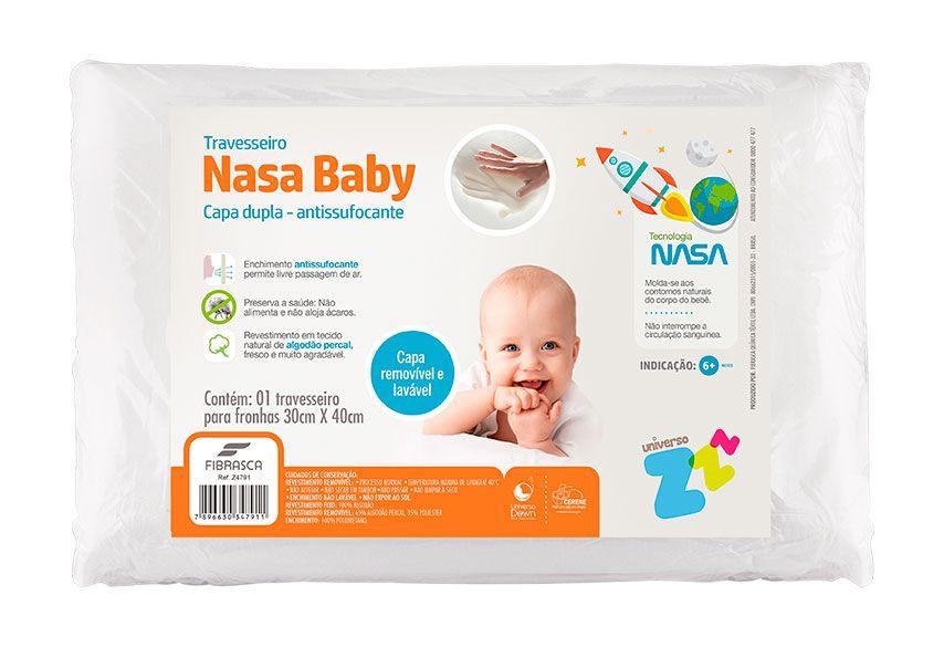 Travesseiro Nasa Baby Capa Dupla