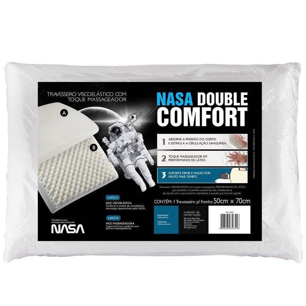 Travesseiro  Nasa Double  Fibrasca  Comfort Antialérgico