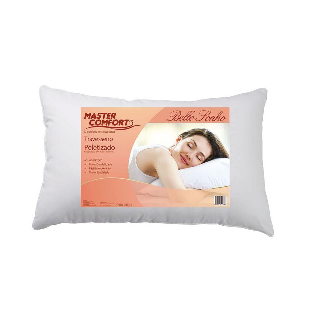 Travesseiro Peletizado Master Comfort 70x50cm 100% Poliester