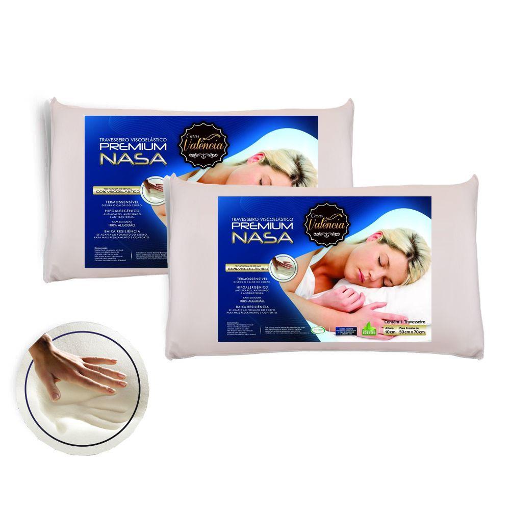 Travesseiro Valência Kit 2 Pecas - Antialérgico - Toque Macio