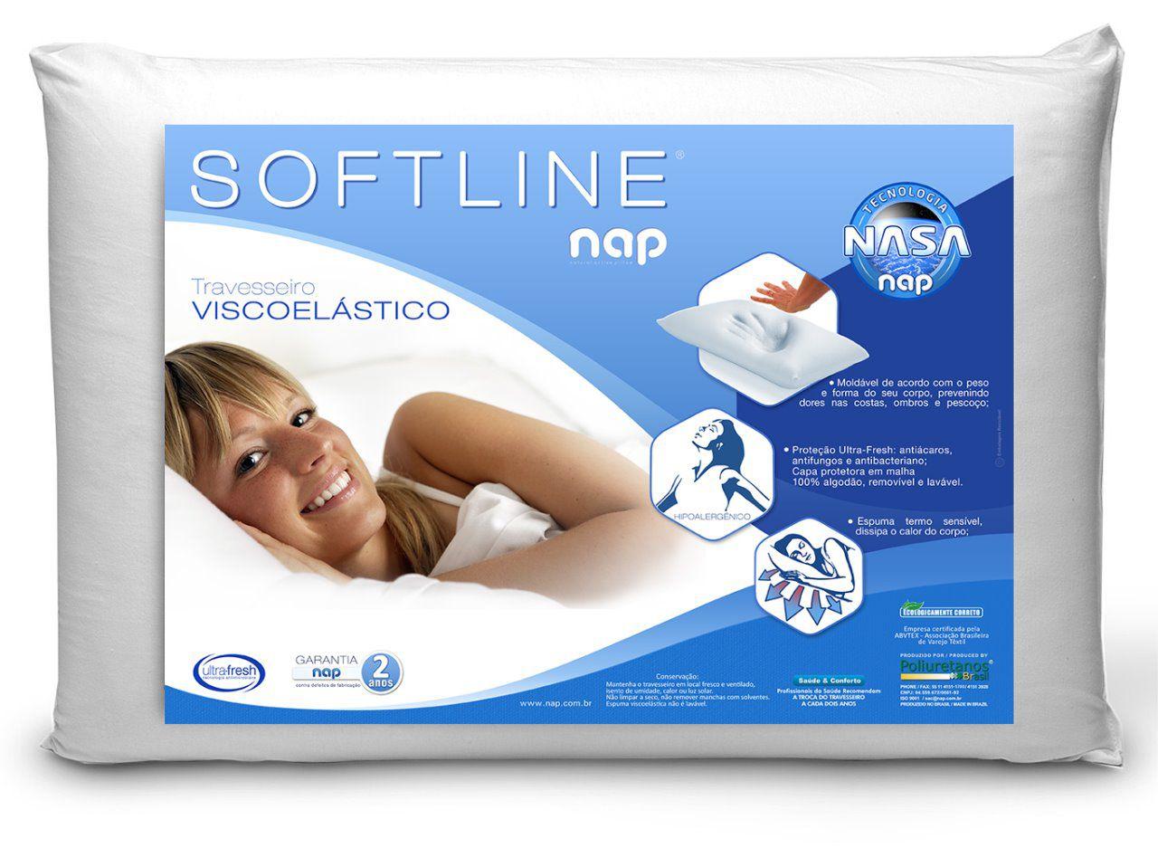 Travesseiro Visco - Nap Softline - 17 Cm de Altura