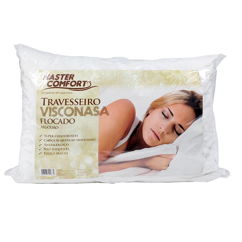 Travesseiro Visconasa 100% Algodão P/ Fronhas 50x70 Master Comfort