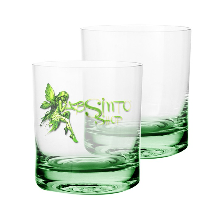 Copo whisky - base verde