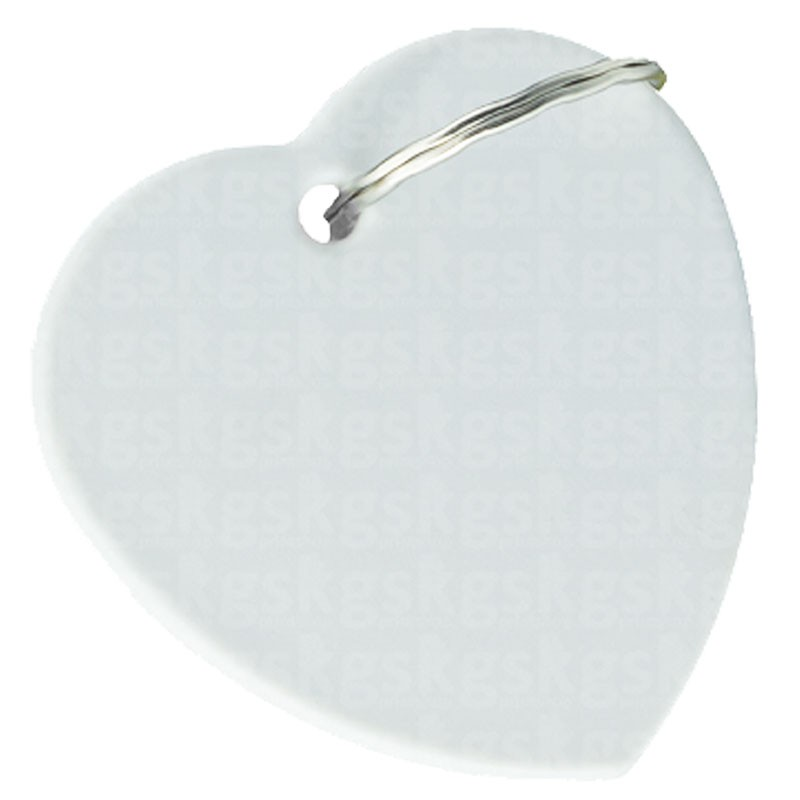 Chaveiro de polímero coração
