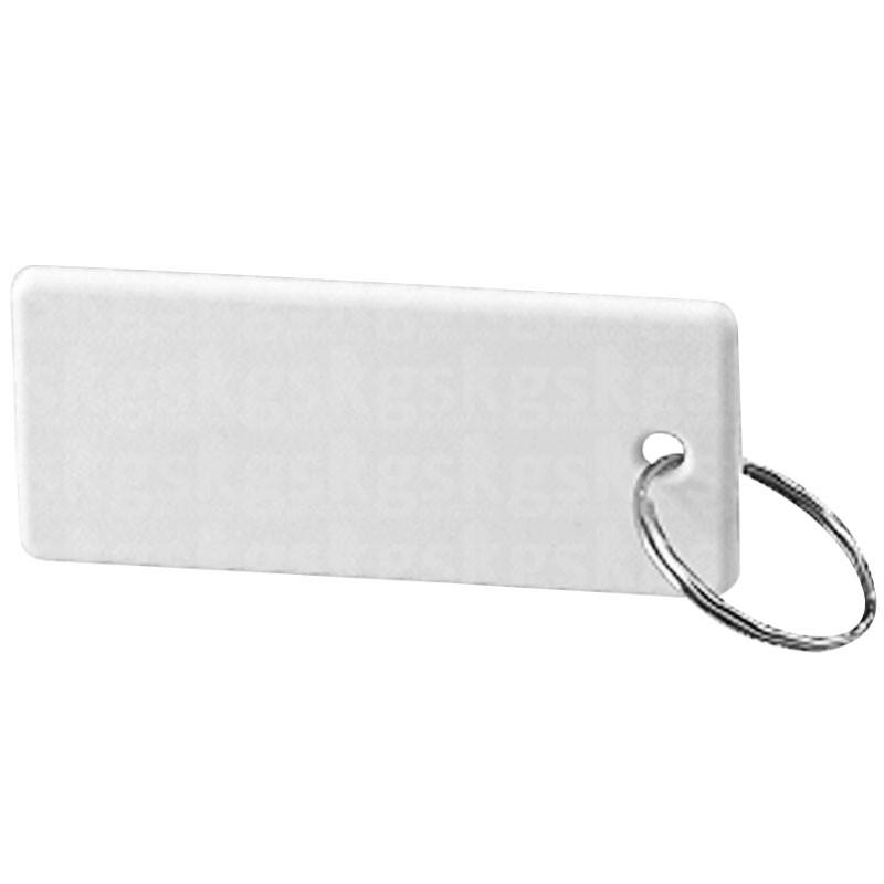 Chaveiro de polímero 10 unidades - Retangular branco