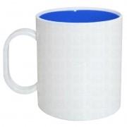 Caneca de polímero com interior azul escuro