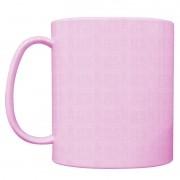 Caneca plástica colorida rosa
