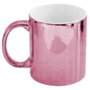 Caneca metálica rosa