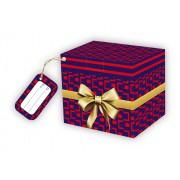 Caixa para Caneca Laço dourado com tag - pacote com 10 unidades
