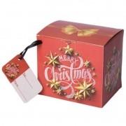 Caixinha para caneca Natal vermelho  - pacote com 10 unidades