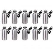 Kit 10 Squeezes prata 500ml sublimável bolinha - duas tampas com mosquetão