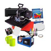 Prensa Plana 38*38 + Prensa de caneca Compacta + Impressora L120