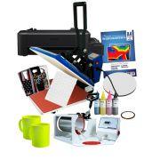 Prensa Plana 38*38 + Prensa de caneca tradicional + Impressora L120